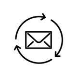 Högvärdig postsymbol eller logo i linjen stil Arkivfoto