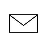 Högvärdig postsymbol eller logo i linjen stil Royaltyfria Bilder