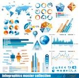 högvärdig samlingsinfographicsförlage stock illustrationer