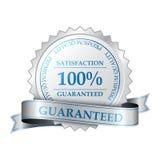 Högvärdig tillfredsställelsegarantietikett 100% Arkivfoton