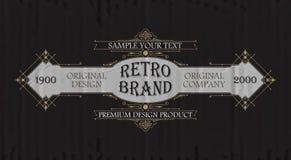 Högvärdig typografisk etikett för tappning Royaltyfria Bilder
