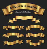 Högvärdiga guld- band Arkivfoton