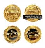 Högvärdiga kvalitets- guld- etiketter Royaltyfria Foton