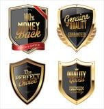 Högvärdiga kvalitets- guld- sköldar Arkivbild