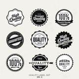 Högvärdiga kvalitets- klistermärke- och beståndsdeletiketter Arkivfoton