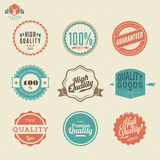 Högvärdiga kvalitets- klistermärke- och beståndsdeletiketter Royaltyfri Bild