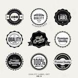 Högvärdiga kvalitets- klistermärke- och beståndsdeletiketter Royaltyfri Fotografi