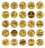 Högvärdiga kvalitets- retro etiketter Arkivbild