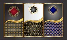 Högvärdiga lyxiga kort, Retro bakgrund Royaltyfria Foton
