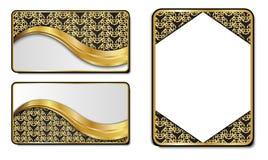 Högvärdiga lyxiga kort, Retro bakgrunder Royaltyfri Bild