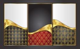 Högvärdiga lyxiga kort, Retro bakgrunder Royaltyfria Bilder