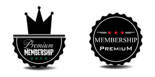 Högvärdiga medlemskapemblem stock illustrationer