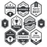 Högvärdigt emblem och modern etikettsamling Royaltyfri Fotografi