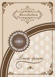 Högvärdigt inbjudan- eller bröllopkort Arkivbild