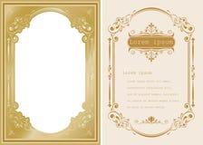 Högvärdigt inbjudan- eller bröllopkort Royaltyfria Bilder