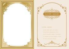 Högvärdigt inbjudan- eller bröllopkort Arkivfoto