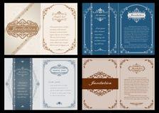 Högvärdigt inbjudan- eller bröllopkort Royaltyfri Fotografi