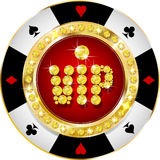 Högvärdigt kasinovip-baner stock illustrationer