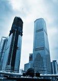 högväxt byggnader Fotografering för Bildbyråer