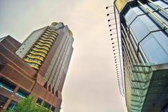 högväxt byggnadskontor Arkivbild