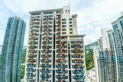 Högväxt Highrisehus i Hong Kong Arkivfoton