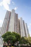 Högväxt Highrisehus i Hong Kong Royaltyfria Bilder