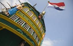 högväxt holländsk ship 4 Arkivbilder