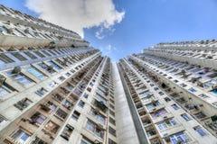 Högväxt konkret Highrisehus i Hong Kong Royaltyfri Foto