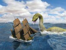 Högväxt monster för hav för seglingskepp Arkivfoto