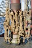 högväxt rigging ship Royaltyfria Bilder