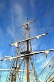 högväxt rigging ship Royaltyfri Foto