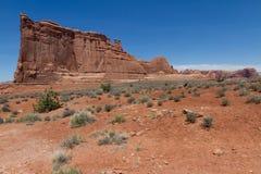 Högväxt sandstenrygg Arkivbilder