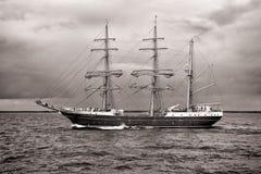Högväxt skepp ALEXANDER VON HUMBOLDT II Arkivfoton