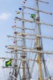 Högväxt skepp av den brasilianska marinen, Cisne Branco Fotografering för Bildbyråer