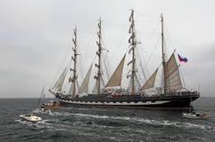 Högväxt skeppregatta 2014 för historiska hav Arkivbild