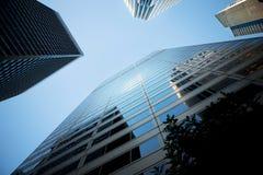 högväxt stadsskyskrapor Royaltyfri Foto