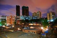 högväxt torn för slums Arkivbild