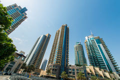 Högväxta Dubai Royaltyfria Bilder