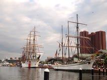 Högväxta skepp i Baltimore Maryland beröm Arkivbild