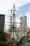 Högväxta skepp i Chicago Illinois Arkivbilder
