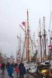 Högväxta skeppens lopp 2008 i Bergen, Norge Royaltyfria Foton