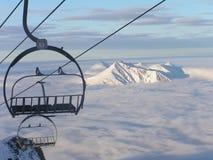 Höhenruder in Himmel Lizenzfreies Stockbild