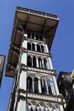 Höhenruder Sankt-Justa in Lissabon Stockbild