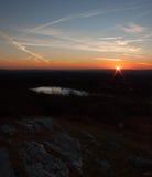Höhepunkt-Nationalpark im Spätherbstsonnenuntergang Stockfotos