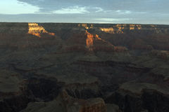 Höhepunkte des Sonnenaufgangs, Grand Canyon Lizenzfreie Stockfotografie