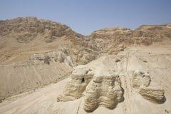 Höhle bei Qumran Lizenzfreies Stockfoto