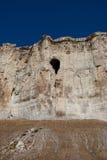 Höhle im alten Felsen Stockbild
