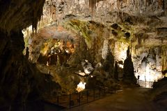 Höhle Postojna, Slowenien lizenzfreie stockfotografie