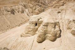 Höhle in Qumran Stockfotos