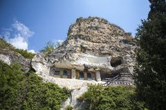 Höhle von Dimitrie Basarabov - Kloster Bulgarien nahe Russe Lizenzfreies Stockfoto